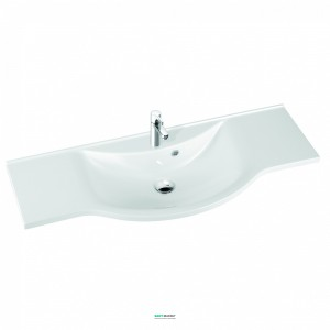 Раковина для ванной подвесная умывальник-столешница Marmorin Pamona 120 белая 320 121 022 xx x