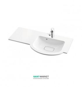 Раковина для ванной на тумбу умывальник-столешница Marmorin Emma 90 правосторонняя 639 090 9xx xx x