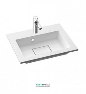 Раковина для ванной на тумбу Marmorin коллекция Lira белая 640 050 020 xx x