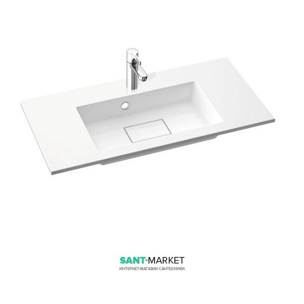 Раковина для ванной на тумбу умывальник-столешница Marmorin коллекция Lira белая 640 080 0xx xx x