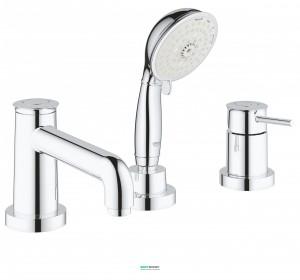 Смеситель однорычажный на борт ванны с душем Grohe коллекция BauClassic 2511800A