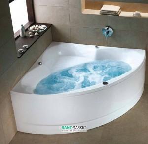Ванна гидромассажная акриловая угловая Kolo Relax 150х150х47 белая