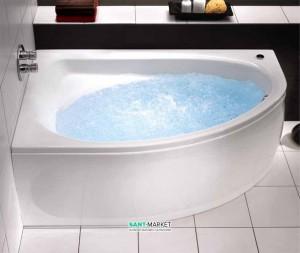 Ванна с гидро и аэромассажем акриловая угловая Kolo Inspiration 140х140 белая