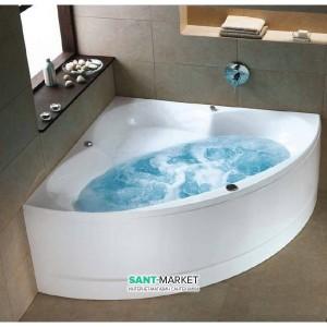 Ванна с гидро и аэромассажем акриловая угловая Kolo Relax 150х150 белая