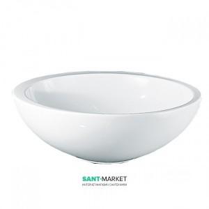 Раковина для ванной накладная AeT коллекция Motivi Fine Tondo Mini белая L434T0R0V0