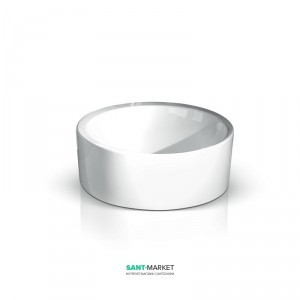 Раковина для ванной накладная AeT коллекция Spot белая L202T0R0V0