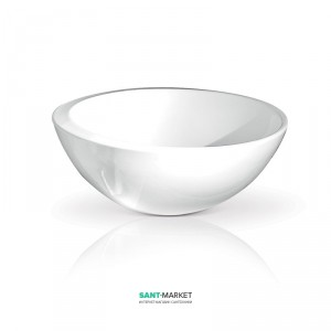 Раковина для ванной накладная AeT коллекция Spot белая L208T0R0V0