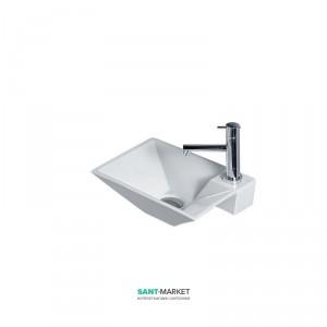 Раковина для ванной подвесная AeT коллекция Idea Clessidra белая L271T0R1V1