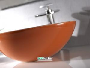 Раковина для ванной накладная AeT коллекция Spot оранжевая L450T0R0V0 214