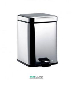 Ведро для мусора Emco System 2 30х23.6х23 с крышкой хром 3553 000 05