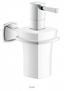 Дозатор жидкого мыла Grohe Grandera с держателем, хром 40627000
