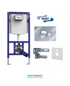 Система инсталляции для подвесного унитаза Sanit Ineo 4в1 112х52.5х13 90.721.00.S002