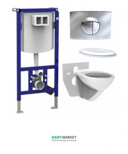 Система инсталляции для подвесного унитаза Sanit Ineo 5в1 90.774.81.0001