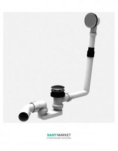 Сифон для ванны Sanit Push-push хром 35.037.00.0000