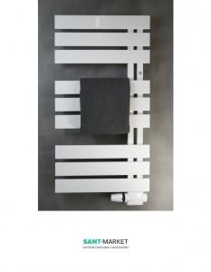 Электрический полотенцесушитель Instal Projekt Nameless 500х900х94-104 стальной белый Nam-50/90W