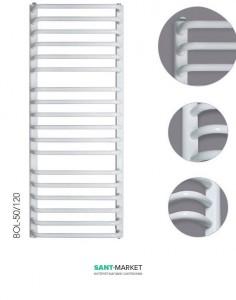 Электрический полотенцесушитель Instal Projekt Bolero 500х1230 стальной белый LUN-50/120+EGB-06C1