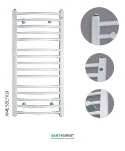 Водяной полотенцесушитель Instal Projekt Ambra R 500х1038х103-117 белый AMBR-50/100M