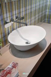Раковина для ванной накладная Flaminia коллекция Boll белая BL56L