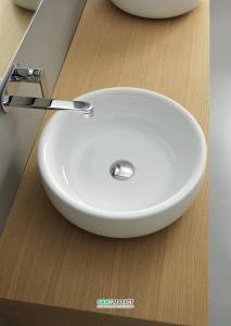 Раковина для ванной накладная Flaminia коллекция Bonola белая BN46A