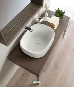 Раковина для ванной накладная Flaminia коллекция Bonola белая BN60A