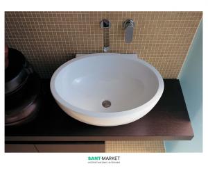 Раковина для ванной накладная Flaminia коллекция Dip белая DP482