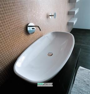 Раковина для ванной накладная Flaminia коллекция Nuda белая 5080