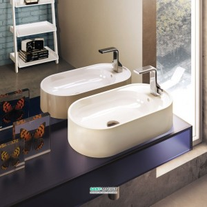 Раковина для ванной накладная Flaminia коллекция Pass белый PS60AT