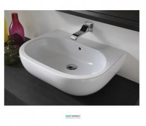 Раковина для ванной накладная Flaminia коллекция Pass белый PS62L