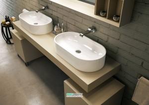 Раковина для ванной накладная Flaminia коллекция Pass белый PS65AT