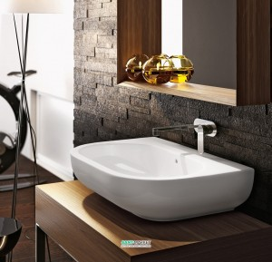 Раковина для ванной накладная Flaminia коллекция Pass белая PS72L