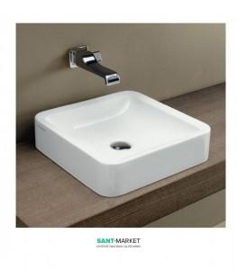 Раковина для ванной накладная Flaminia коллекция Nile белая NL40A