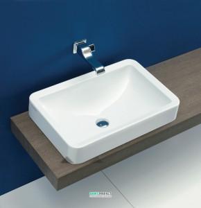 Раковина для ванной накладная Flaminia коллекция Nile белая NL62INC