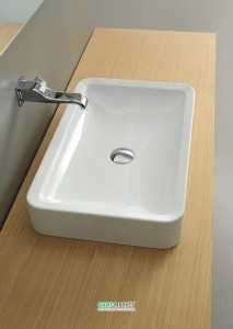 Раковина для ванной накладная Flaminia коллекция Nile белая NL62A