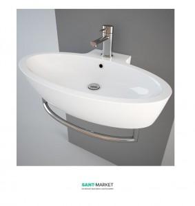 Раковина для ванной подвесная Simas коллекция Spazio белая LFT34