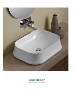 Раковина для ванны накладная Simas Sharp 60х42х16 белая
