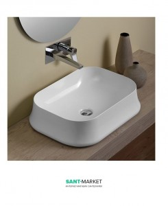 Раковина для ванной накладная Simas коллекция Sharp белая SH08