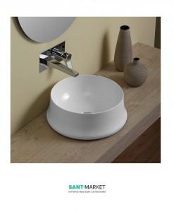 Раковина для ванной накладная Simas коллекция Sharp белая SH02