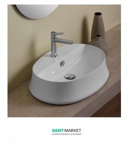 Раковина для ванной накладная Simas коллекция Sharp белая SH05