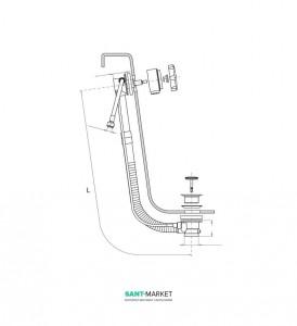 Сливная колонна для ванны Hafro хром 0SCA1N0