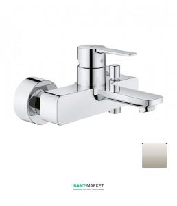 Смеситель однорычажный для ванны с коротким изливом Grohe Lineare суперсталь 33849DC1