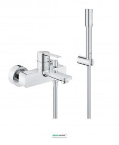 Смеситель однорычажный  для ванны Grohe Lineare с душевым гарнитуром хром 33850001