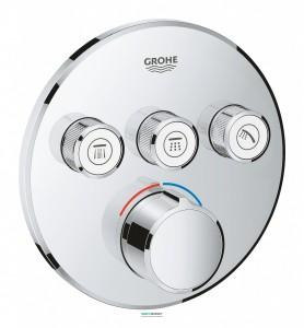Внешняя панель смесителя Grohe SmartControl на 3 выхода хром 29146000
