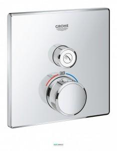 Внешняя панель термостата Grohe Grohtherm SmartControl на 1 выход хром 29123000