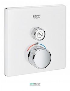 Внешняя панель термостата Grohe Grohtherm SmartControl на 1 выход белый 29153LS0