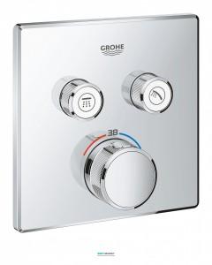 Внешняя панель термостата Grohe Grohtherm SmartControl на 2 выхода хром 29124000
