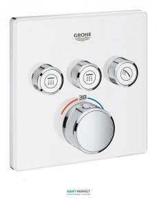 Внешняя панель термостата Grohe Grohtherm SmartControl на 3 выхода белый 29157LS0