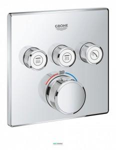 Внешняя панель термостата Grohe Grohtherm SmartControl на 3 выхода хром 29126000