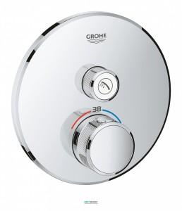 Внешняя панель термостата Grohe Grohtherm SmartControl на 1 выход хром 29118000