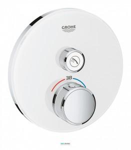 Внешняя панель термостата Grohe Grohtherm SmartControl на 1 выход белая 29150LS0