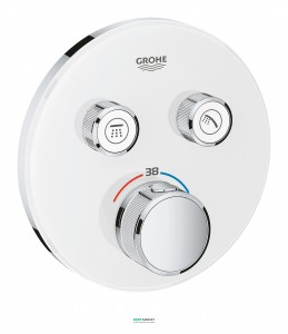 Внешняя панель термостата Grohe Grohtherm SmartControl на 2 выхода белая 29151LS0